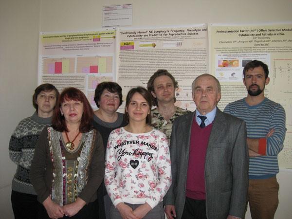 Завідувач лабораторії імунології - д.м.н. проф.Чернишов В.П. із співробітниками
