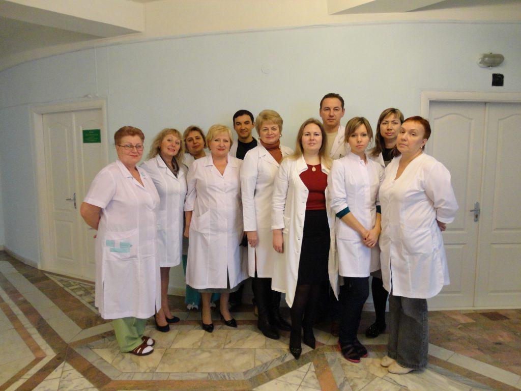 Науковий керівник відділення, д.м.н., професор Корнацька А.Г. із співробітниками